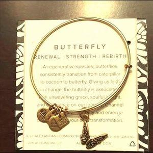 Alex and Ani Gold Butterfly Bracelet